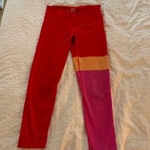 Red and pink JOY LAB leggings